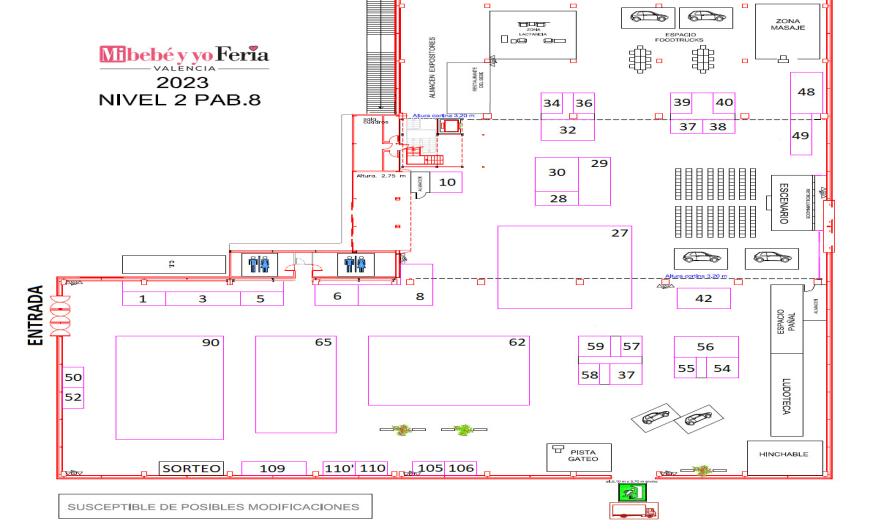 plano del salón